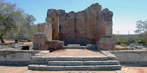 Milreu roman ruins faro algarve portugal