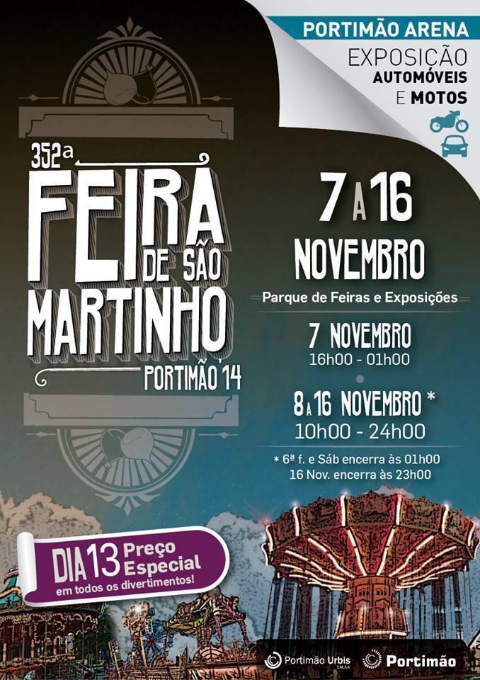 Feira de Sao Martinho Portimao 2014 - program