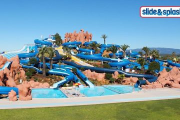 slide splash lago